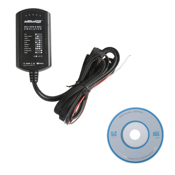 Adblueobd2 Emulator 9In1 with Programming Adapter No Need Any Software