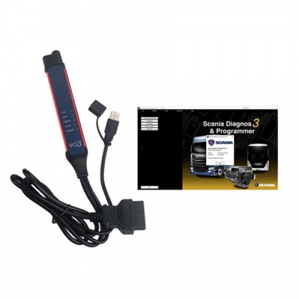 Wifi Scania VCI-3 VCI3 Scanner Latest V2.44 Diagnostic Tool for Scania