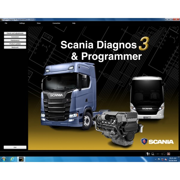 Hard disk software version V2.39 for Scania VCI-3 VCI3