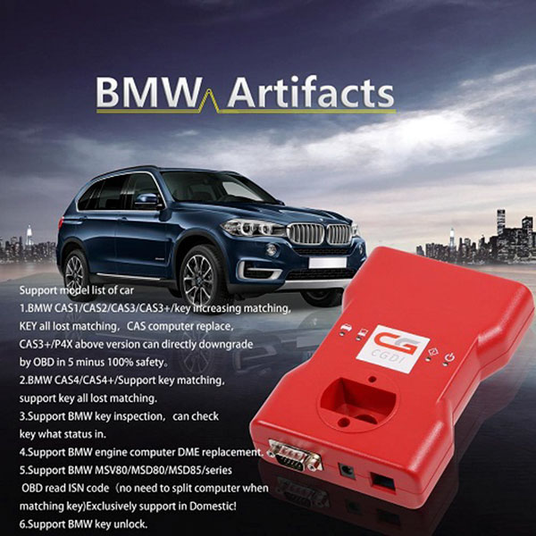 New CGDI Prog BMW MSV80 BMW CGDI Prog Support Auto Diagnosis Programming & IMMO Security 3 in 1