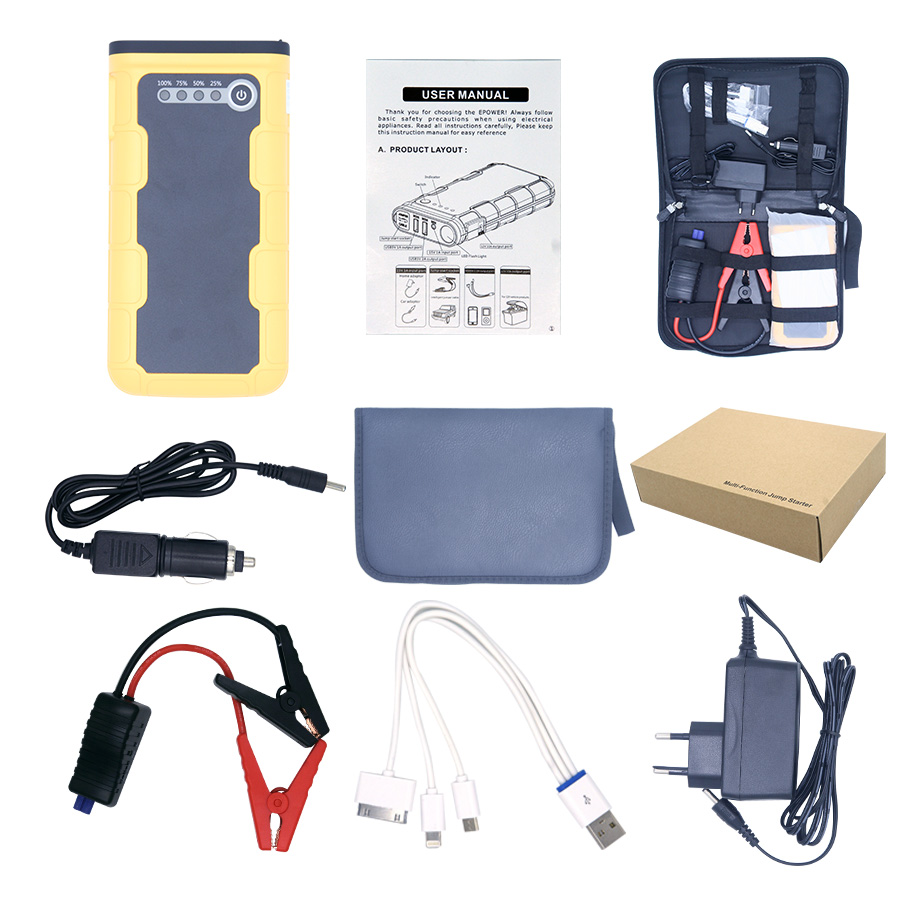 Multi-function Mini Jump Starter 12000mAh Model EPOWER-87